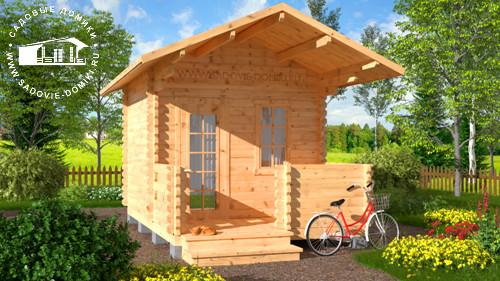Проект Рыжик - домик 3х4,5 с верандой