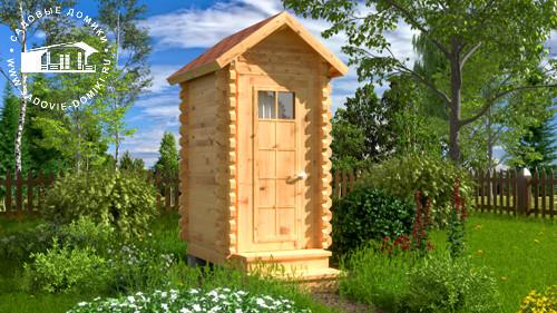 Проект Теремок - туалетный домик 1,3х1,5