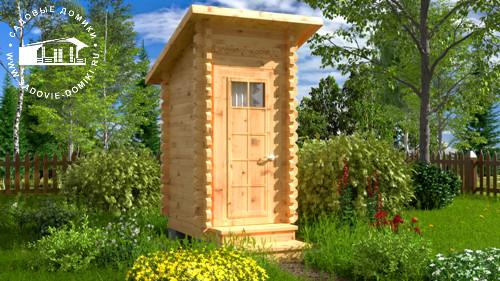 Проект Утенок - дачный туалет 1,3х1,5