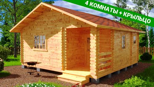 Проект Фермер - дачный дом 6х6 м