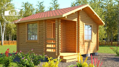 Проект Практик - дачный домик 4х5 м