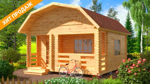 Проект Садовник Плюс - домик 5х5 м