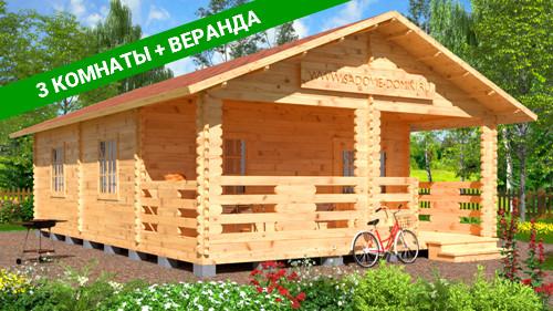 Проект Зеленая роща - садовый дом 6х9 м
