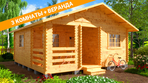 Проект Жаркое лето - дом 6х6 м