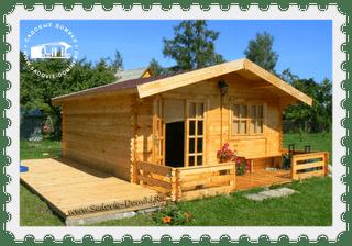 Деревянный садовый домик из бруса